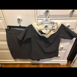 Ann Taylor skirt and low shoulder sweater set